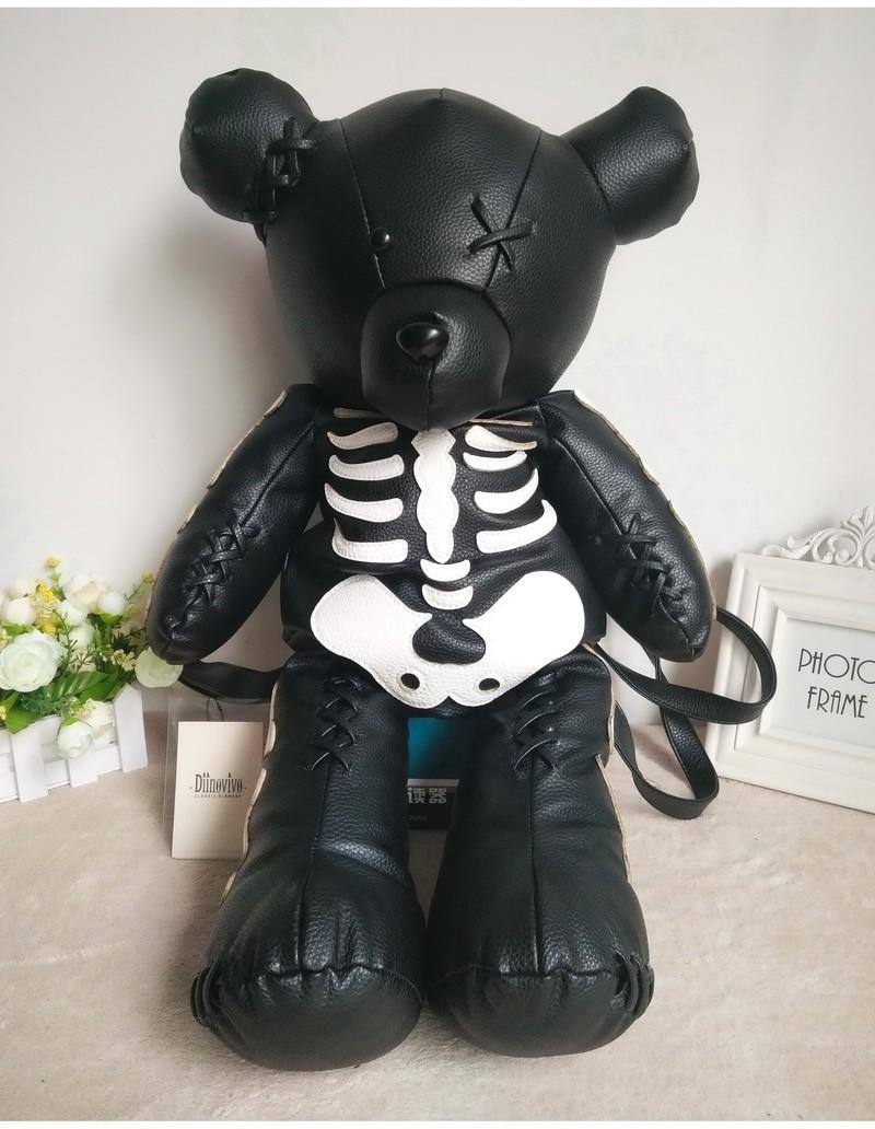 Egirl Eboy Gothic Skeleton Bear Backpack 50