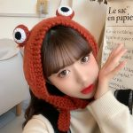 Fashion Knitted Frog Hat 3