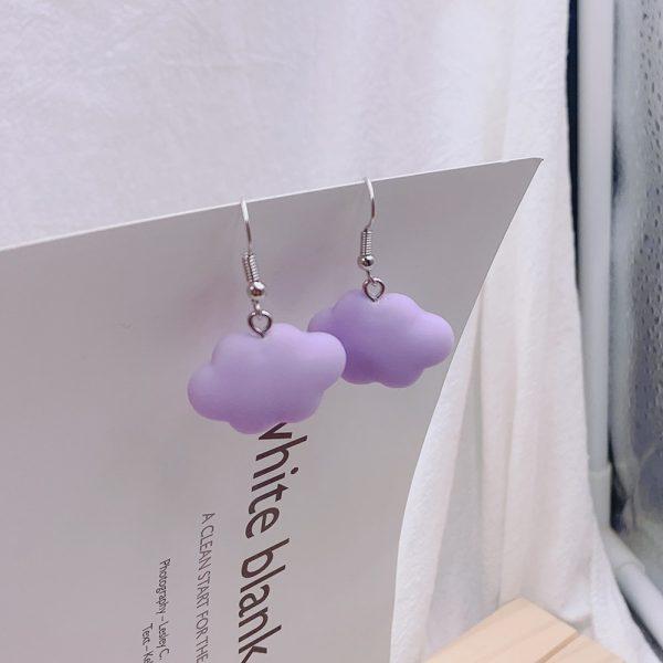 Soft girl Egirl Harajuku Cute Cloud Earrings 5