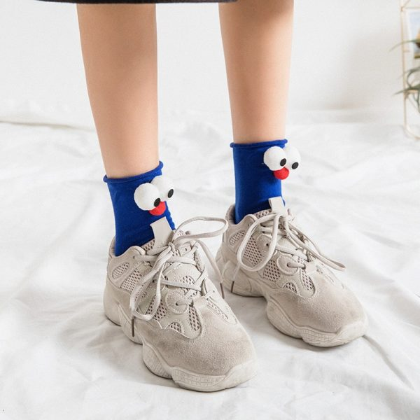 3D eyes Funny Socks Harajuku kawaii style 4