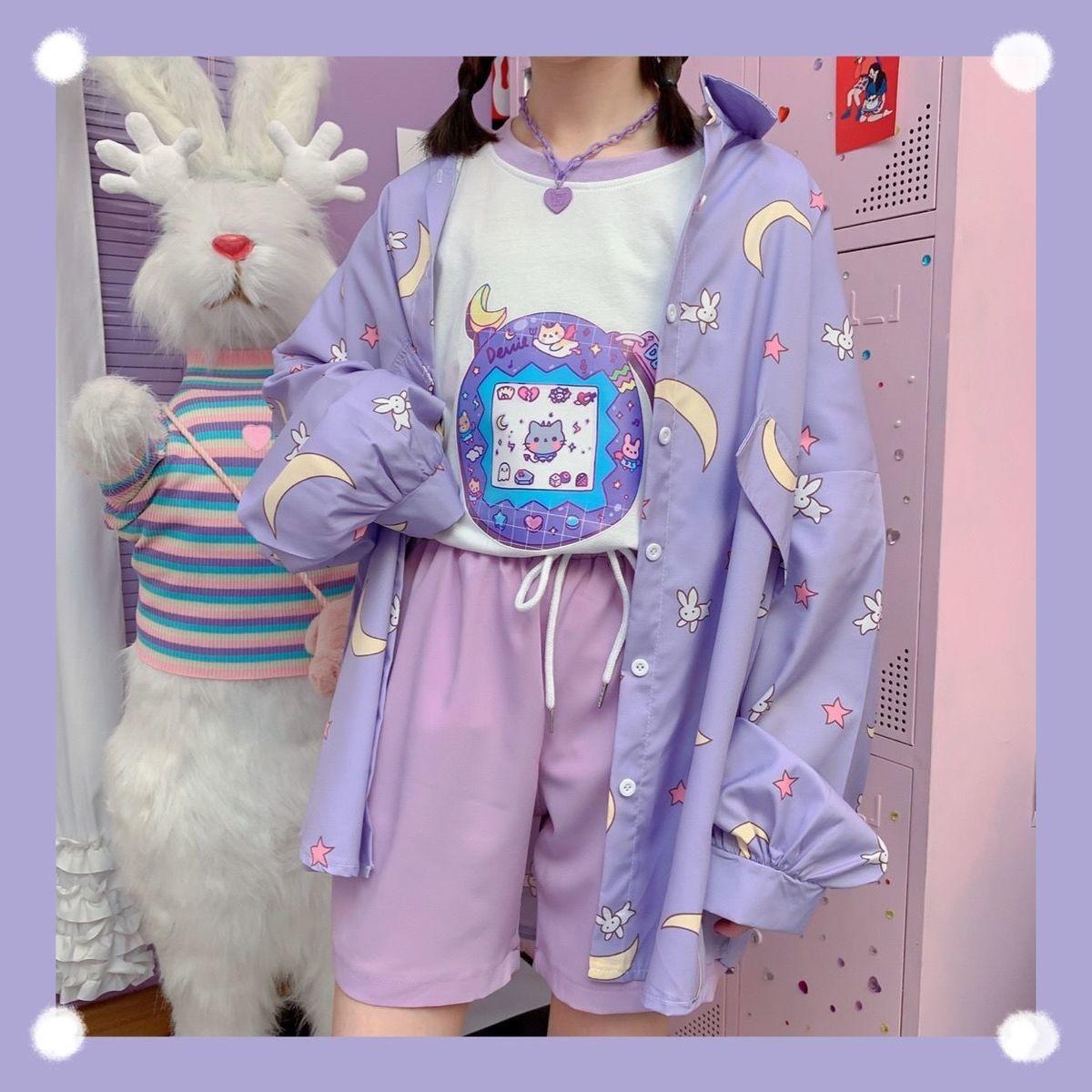 Harajuku Soft Girl Oversized T-shirt 47