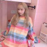 Soft Girl Harajuku Rainbow Striped T-shirt 3