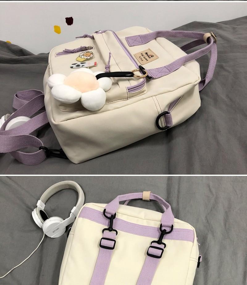 Egirl Soft girl Lovely Multifunctional Backpacks 49