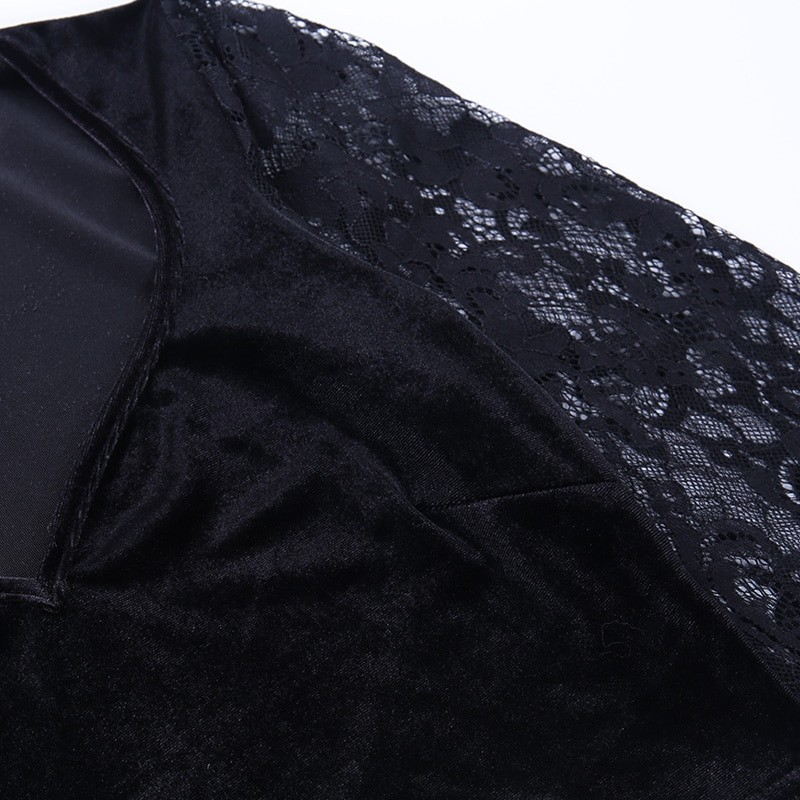 Egirl Gothic Velvet Lace Top 51