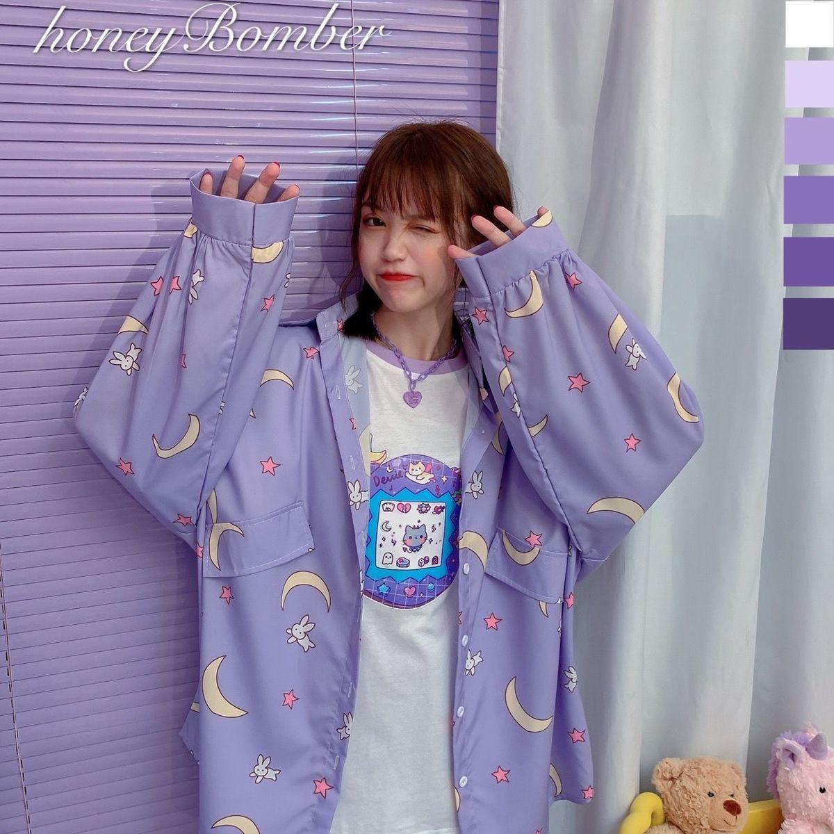 Harajuku Soft Girl Oversized T-shirt 41