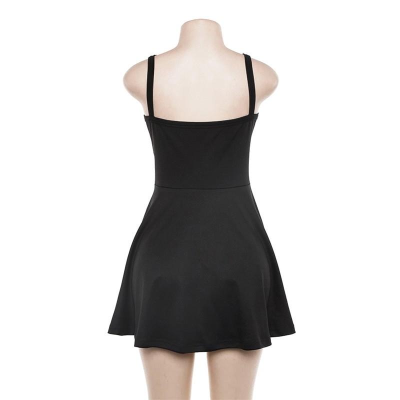Egirl Gothic Pentagram Strap Dress 43