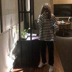 Egirl Harajuku Oversized Striped T-shirt 3