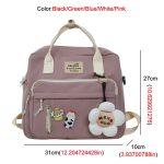 Egirl Soft girl Lovely Multifunctional Backpacks 4
