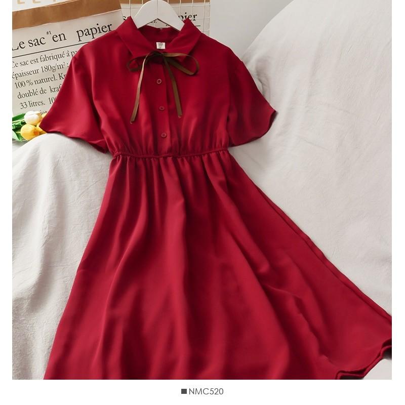Harajuku Soft girl Chiffon  Dress with Bow 43