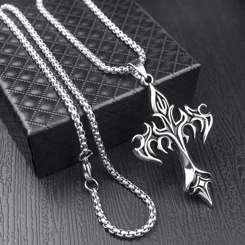 Egirl Eboy Punk Chain Necklace with Cross Pendant 41