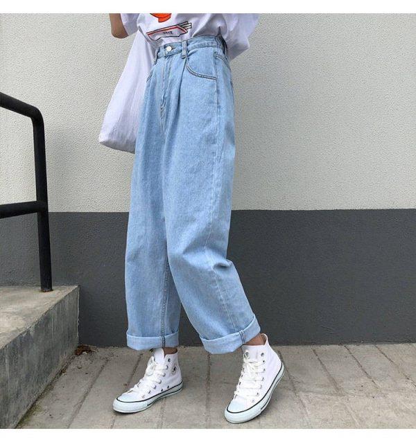 Egirl Y2K High Waist Wide Leg Jeans 12