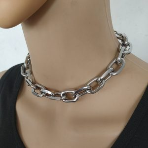 Eboy Egirl Punk Exaggerated Heavy Metal Thick Chain Choker 1