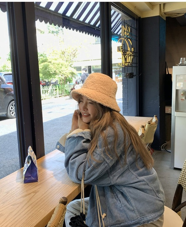 Harajuku Faux Fur Winter Bucket Hat 47