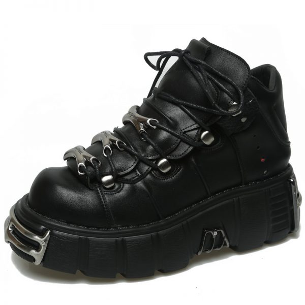Punk Style Women Sneakers with Metal Decor 1