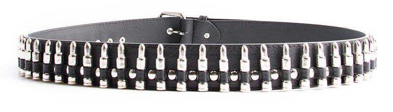 Egirl Eboy Punk leather belt with Bullet decor 43