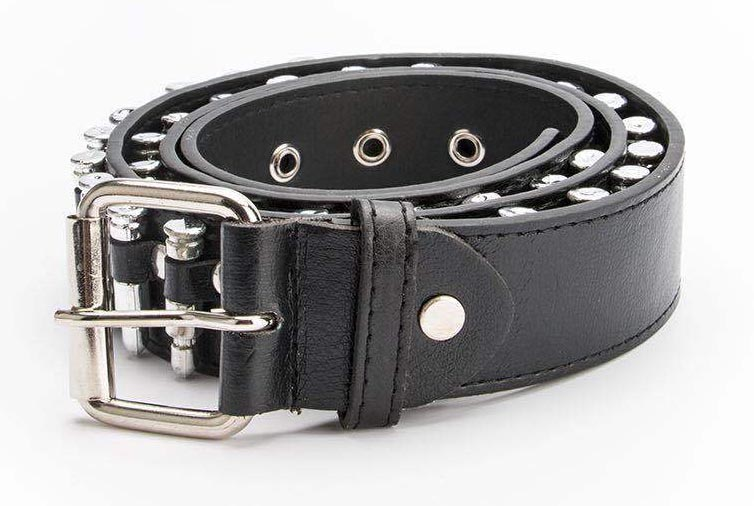 Egirl Eboy Punk leather belt with Bullet decor 44
