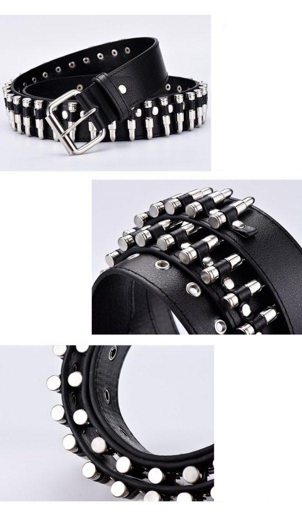 Egirl Eboy Punk leather belt with Bullet decor 47