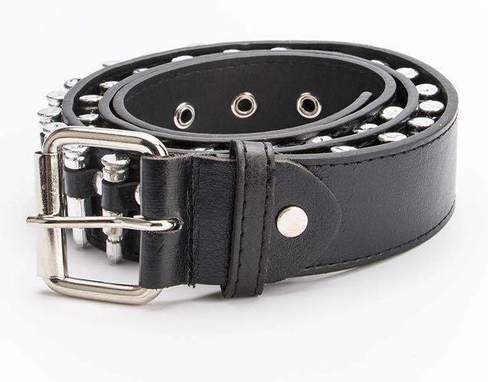 Egirl Eboy Punk leather belt with Bullet decor 48