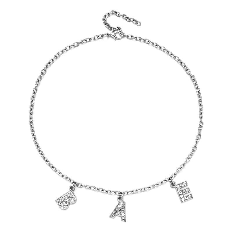 E-girl Y2K Soft girl Letter Necklace 48