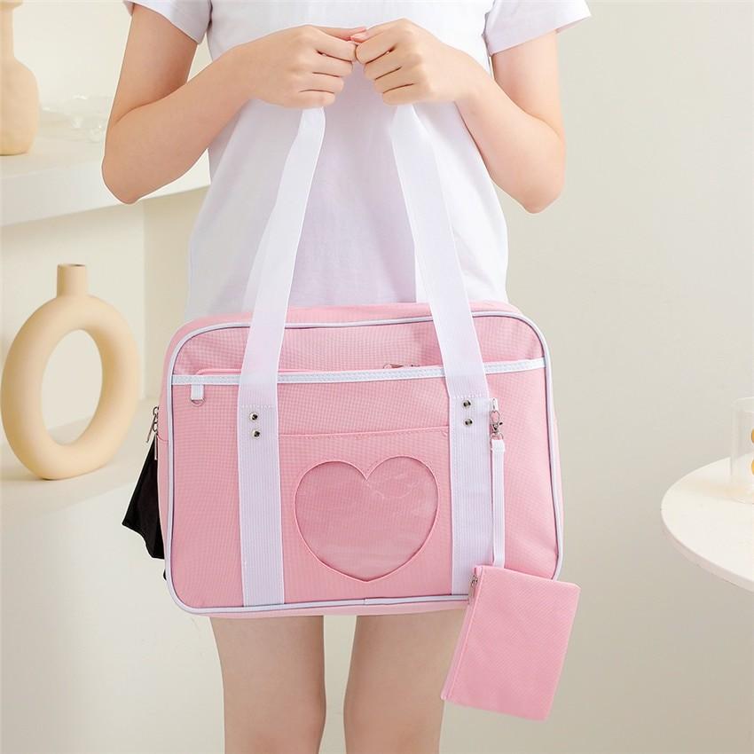 Soft Girl Egirl Harajuku Canvas Large Handbags 41