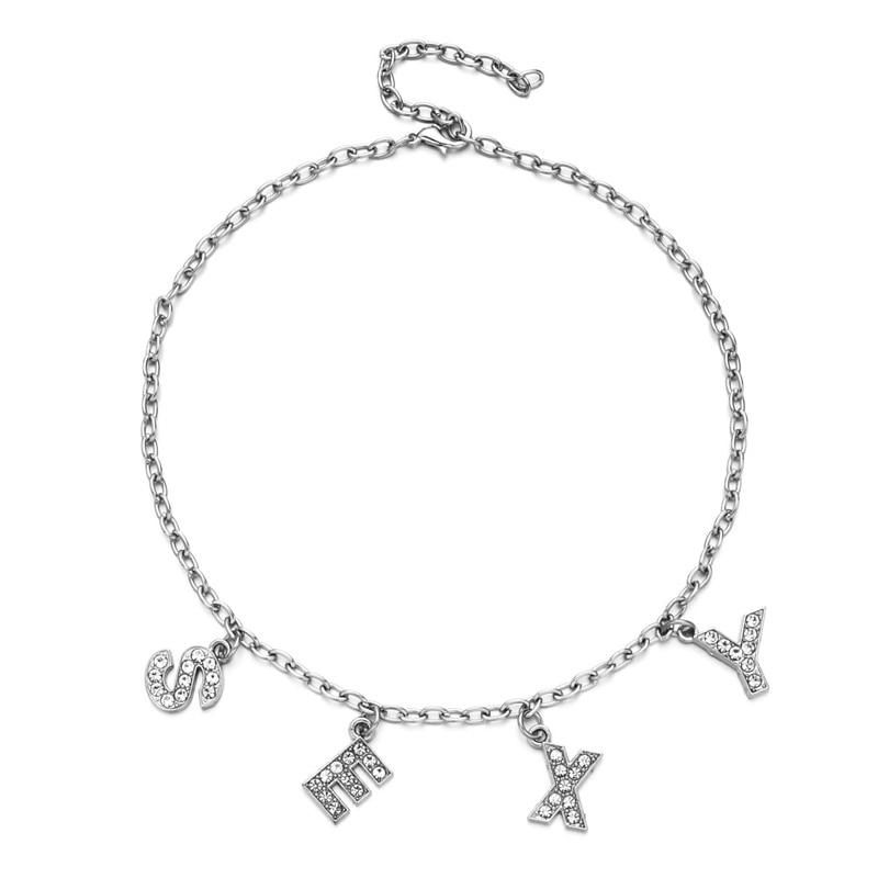 E-girl Y2K Soft girl Letter Necklace 45