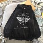 E-girl Gothic Punk Harajuku Hoodie with Devil print 1