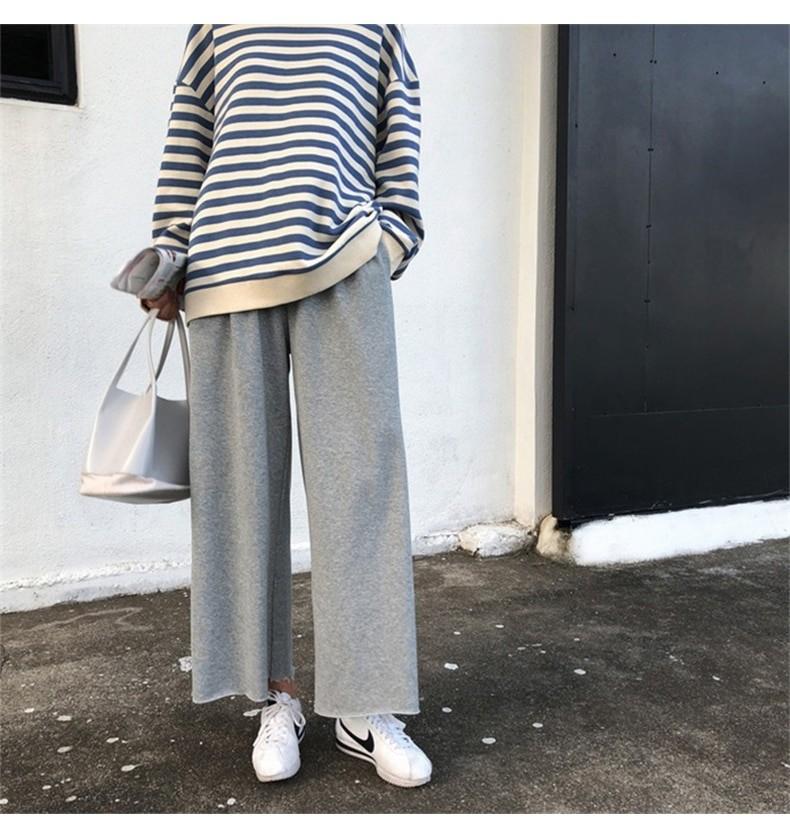 Harajuku E-girl Grunge striped cotton Sweatshirt 45