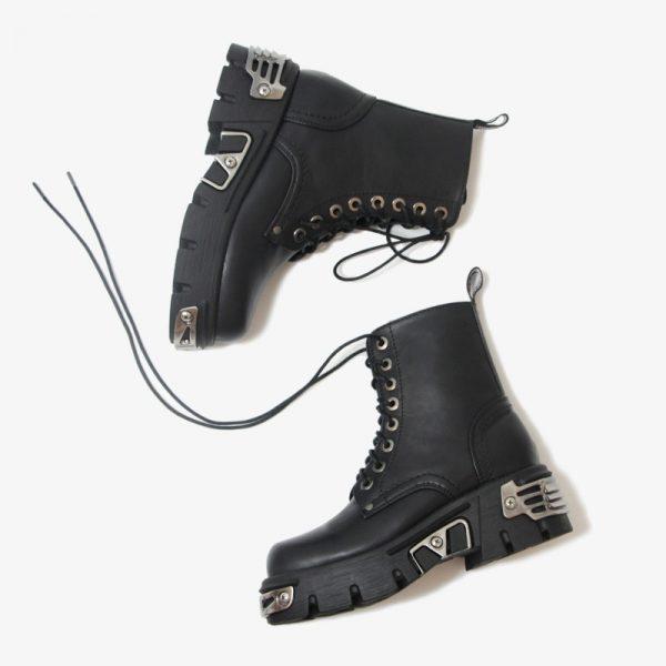 Egirl Punk Style Platform Chunky Shoes with Metal Decor 4
