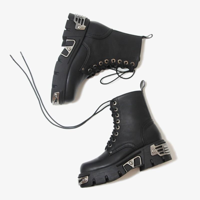 Egirl Punk Style Platform Chunky Shoes with Metal Decor 49