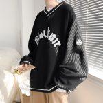 E-boy E-girl Punk Gothic Harajuku V-neck sweatshirt  3