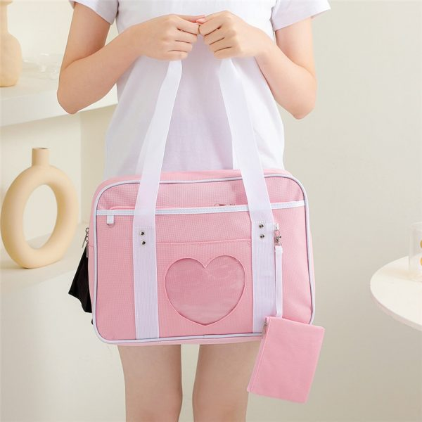 Soft Girl Egirl Harajuku Canvas Large Handbags 3