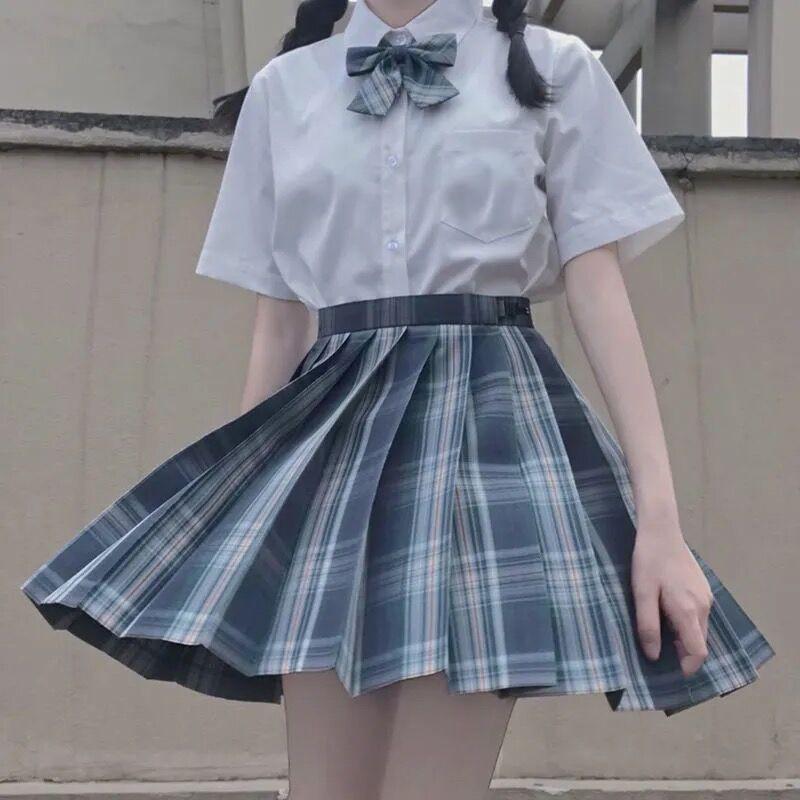 Harajuku E-girl Soft girl Pleated A-Line Plaid Skirts 60