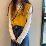 Soft Girl E-girl Harajuku Knitted V-Neck Sleeveless Vest 1