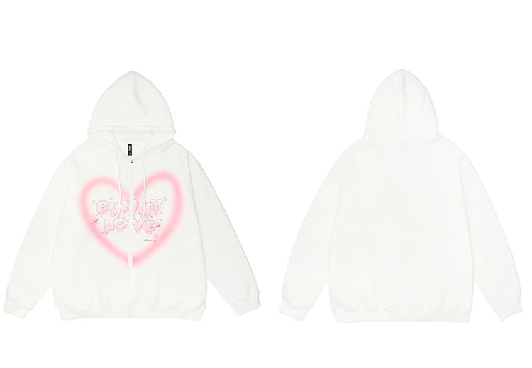 E-girl Y2K Harajuku Hoodie with Graffiti Heart and Letters Print 41