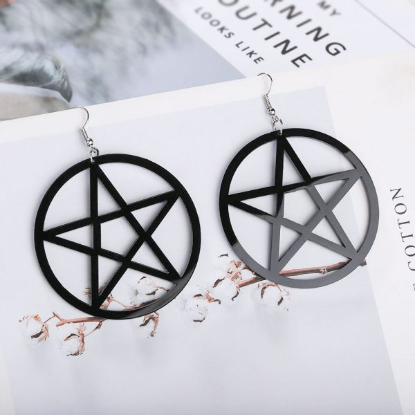 Egirl Eboy Gothic Punk Acrylic Large Star Earrings 3