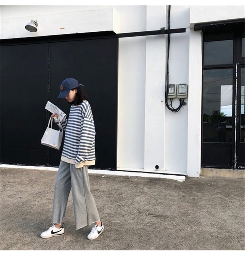 Harajuku E-girl Grunge striped cotton Sweatshirt 47