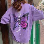 Harajuku E-girl E-boy Butterfly Print Loose T-shirt 1