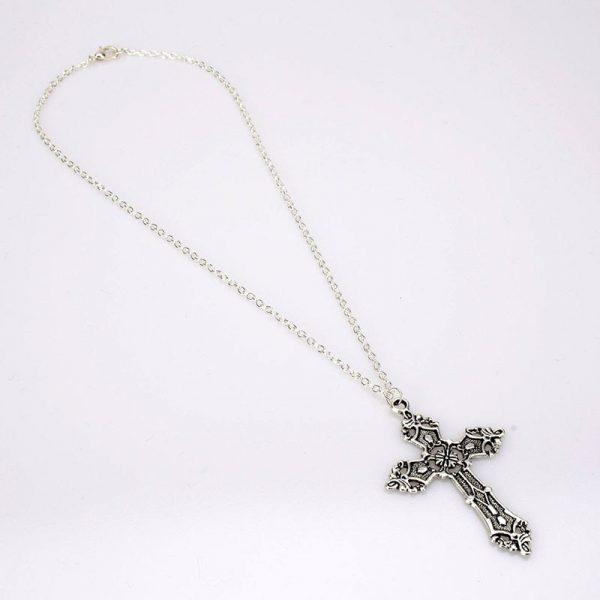 E-girl E-boy Gothic Punk Vintage Cross Pendant Necklace 3