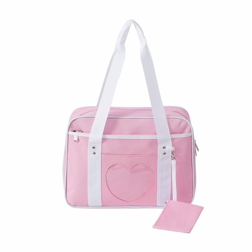 Soft Girl Egirl Harajuku Canvas Large Handbags 51