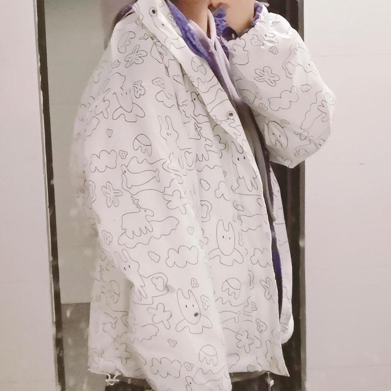 Harajuku E-girl Double Sided Winter Lambswool Imitation Jacket 42