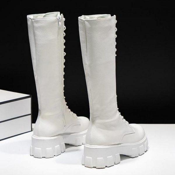 E-girl Gothic Punk Knee-high Pu Boots 4