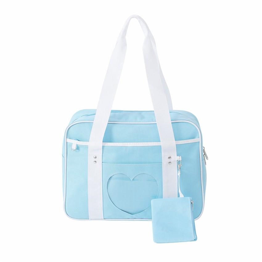 Soft Girl Egirl Harajuku Canvas Large Handbags 48