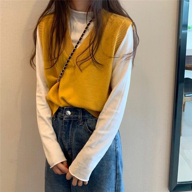 Soft Girl E-girl Harajuku Knitted V-Neck Sleeveless Vest 41