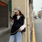 Harajuku Grunge E-girl  V-neck Knitted Vest 7