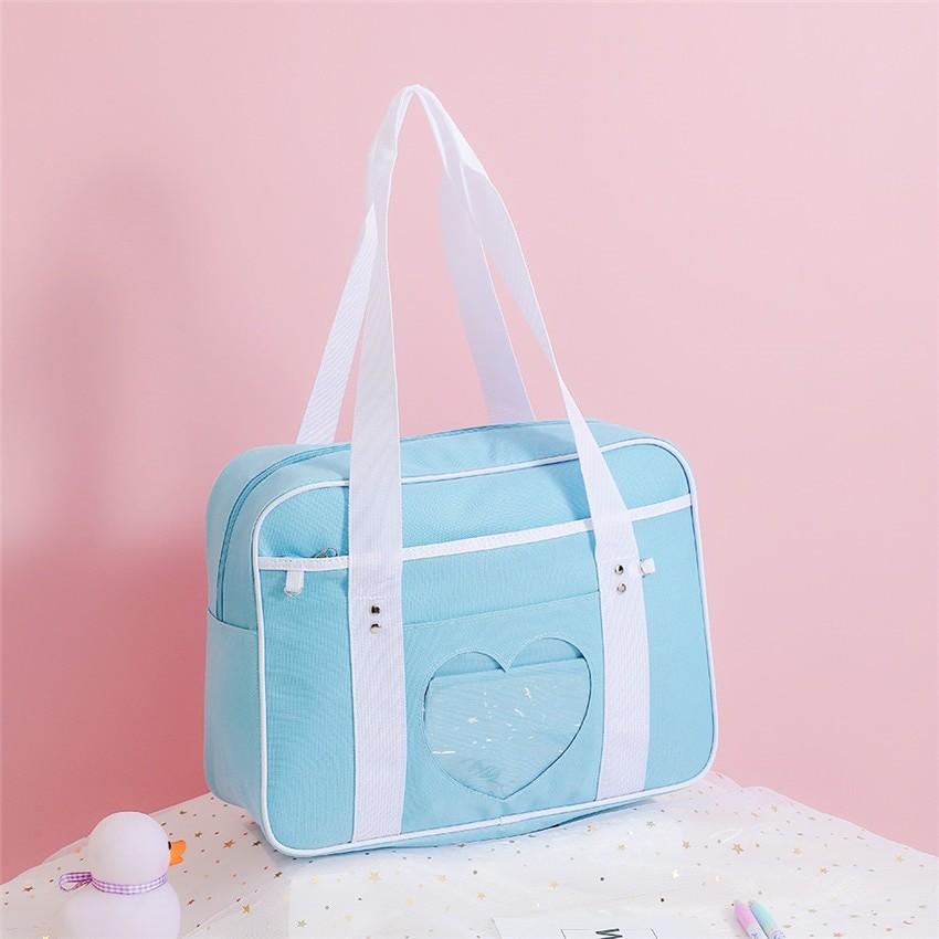 Soft Girl Egirl Harajuku Canvas Large Handbags 46