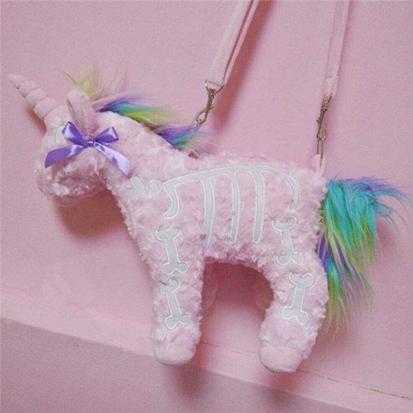 Punk unicorn Skeleton Crossbody Bag 4