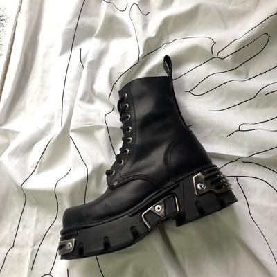 Egirl Punk Style Platform Chunky Shoes with Metal Decor 2