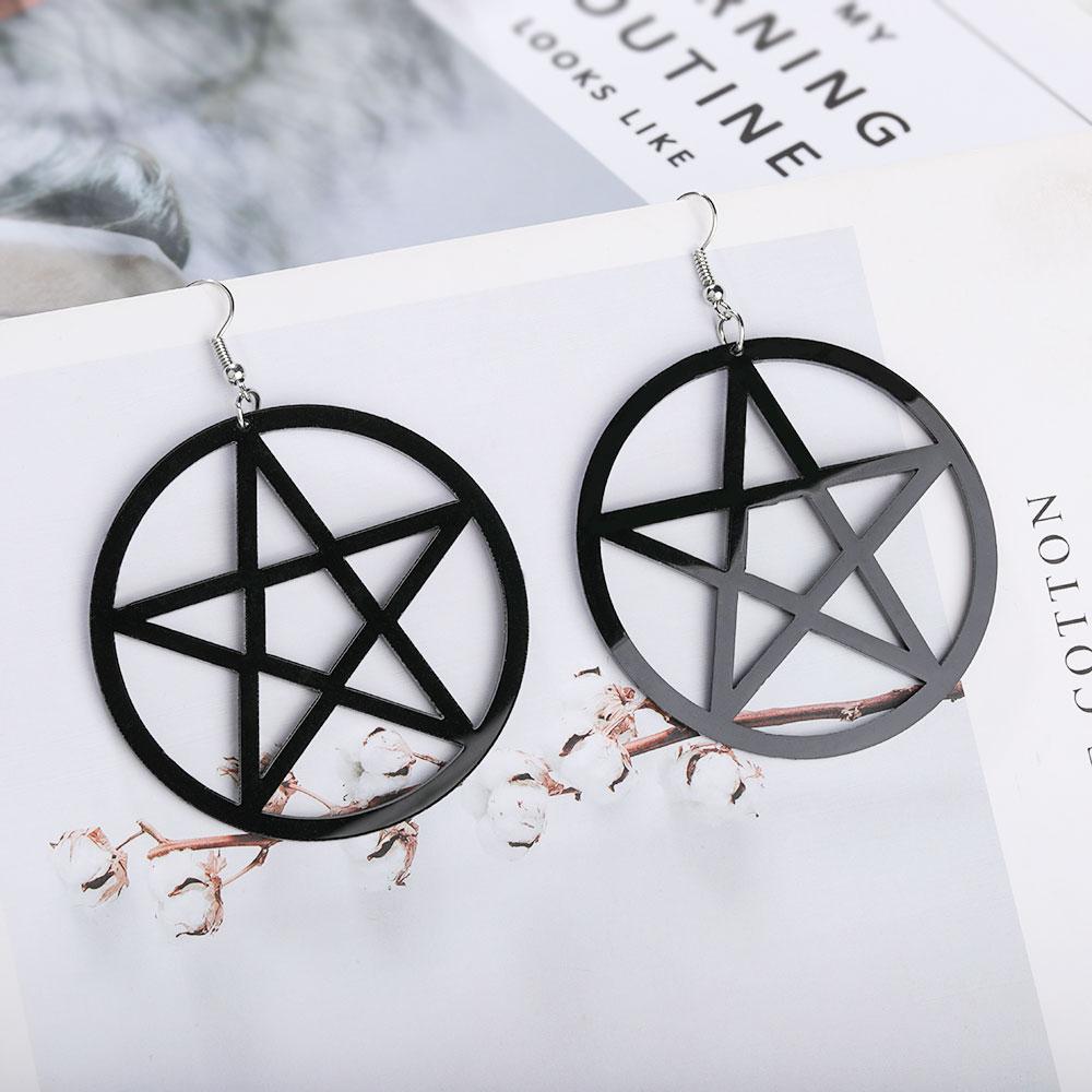 Egirl Eboy Gothic Punk Acrylic Large Star Earrings 43