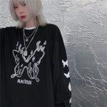 E-girl Gothic Punk Harajuku T-shirt with butterflies print 3