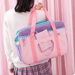Soft Girl Egirl Harajuku Canvas Large Handbags 5